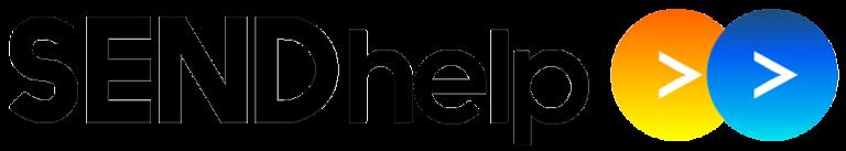 SENDhelp logo in black