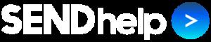 SENDhelp Social Care logo in white